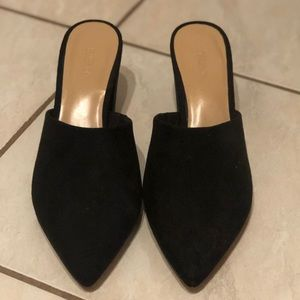 Expression suede mules